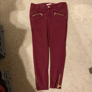 Red ankle pants, business or casual